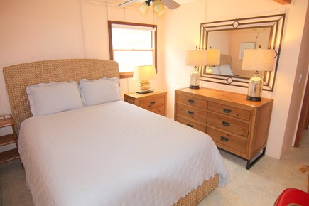 Truro Cape Cod vacation rental - Bedroom 3 - First Floor With Queen Bed & Ceiling Fan