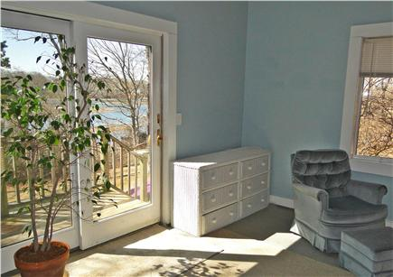 Pocasset, Bourne, Cape Cod Cape Cod vacation rental - Bedroom offers slider to back yard, water views