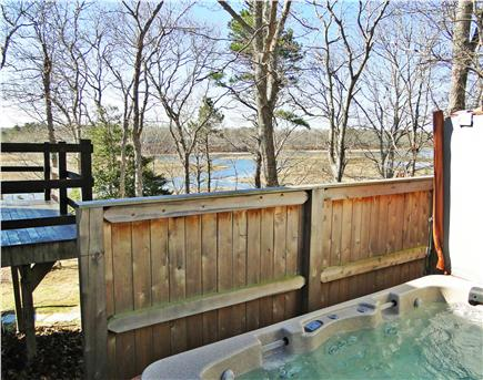 Pocasset, Bourne, Cape Cod Cape Cod vacation rental - An oversized thermospa hot tub accommodates 8 easily