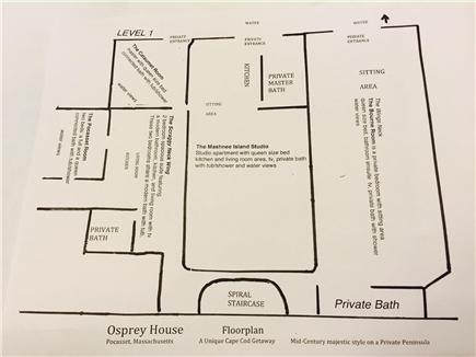 Pocasset, Bourne, Cape Cod Cape Cod vacation rental - First floor layout of home