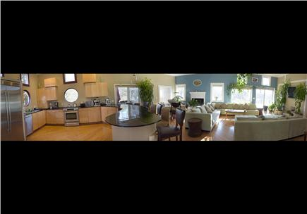 Pocasset, Bourne, Cape Cod Cape Cod vacation rental - Panoramic view kitchen to living room