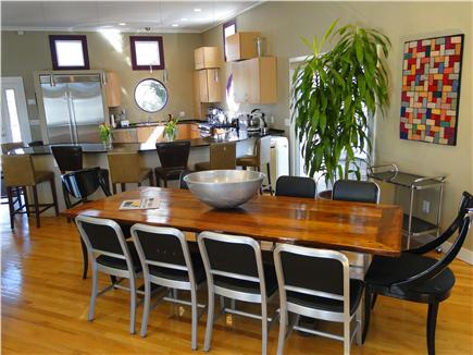 Pocasset, Bourne, Cape Cod Cape Cod vacation rental - So much style a table made of a recaptured PA historic Barn