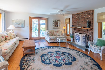 Chatham Cape Cod vacation rental - Living area with slider to the enclosed deck area.
