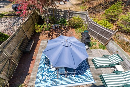 Chatham Cape Cod vacation rental - Patio/deck area looking down from upstairs balcony.