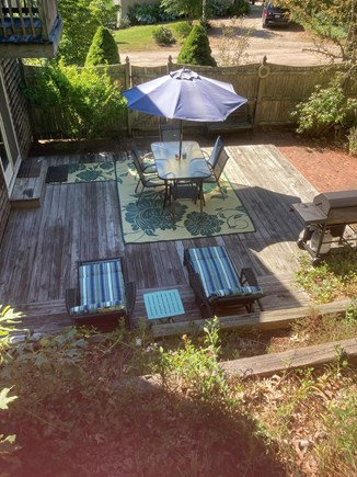 Chatham Cape Cod vacation rental - Deck and patio area, fully enclosed, with gas grill.