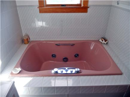 Chatham Cape Cod vacation rental - Upstairs master bath with jacuzzi tub!