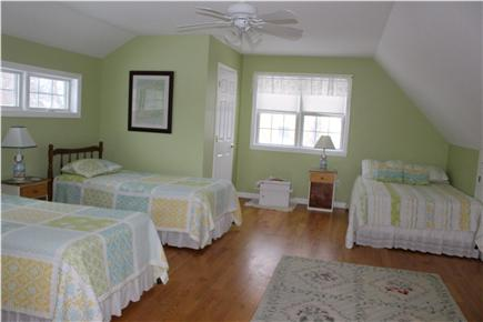 East Brewster Cape Cod vacation rental - Large bed room with two twin and one double