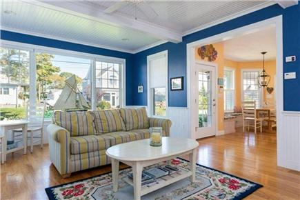 Mashpee, Popponesset Cape Cod vacation rental - Living Room view to street and water
