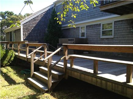 Eastham Cape Cod vacation rental - Large Deck with outdoor shower