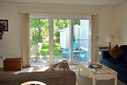 Brewster Cape Cod vacation rental - Another view of living room out to deck