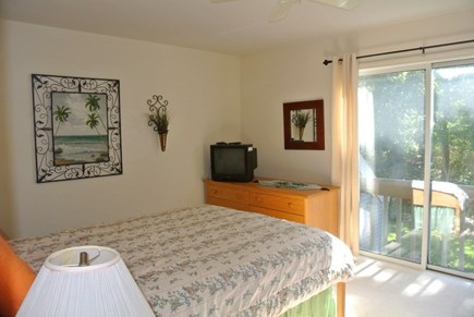 Brewster Cape Cod vacation rental - Queen sized master bedroom with juliette balcony.