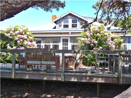 Eastham Cape Cod vacation rental - Main deck from side yard