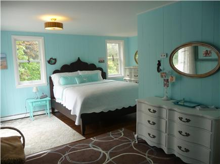 Eastham Cape Cod vacation rental - Master Bedroom (king, 2nd floor), with balcony with a swing