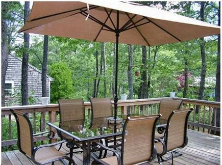 Harwich Cape Cod vacation rental - Side deck with peek-a-boo views of Hinckley's Pond