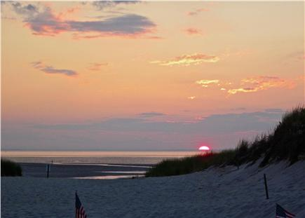 Bay side of Dennis Cape Cod vacation rental - Sunset from the Deck