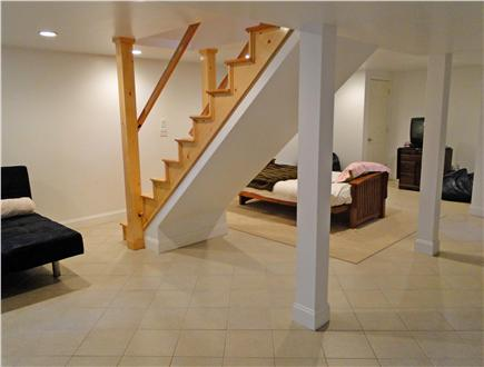 Yarmouth Port Cape Cod vacation rental - Basement area with sitting area, futon, full bath