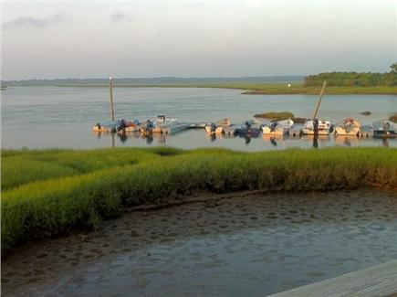 Yarmouth Port Cape Cod vacation rental - View from Bass Hole's Dock at low tide