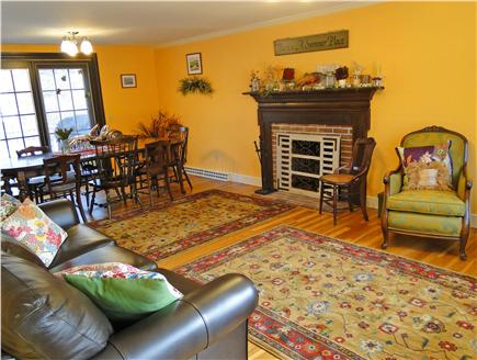 Yarmouth Port Cape Cod vacation rental - Large living room and dining room area