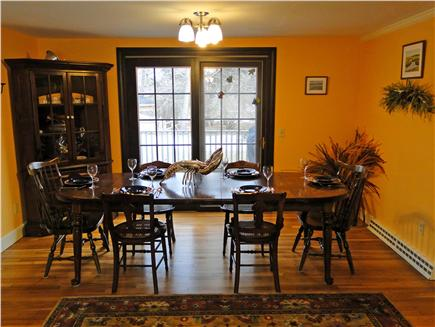 Yarmouth Port Cape Cod vacation rental - Enjoy a fresh seafood meal inside or out on the deck