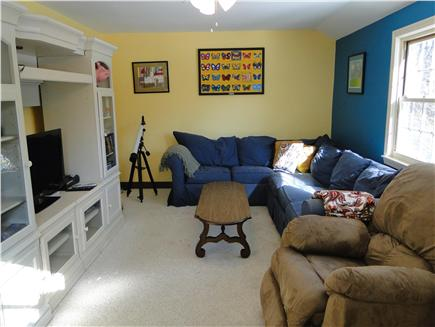 Yarmouth Port Cape Cod vacation rental - Spacious family room with flat screen TV and door to deck
