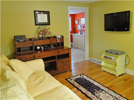 Yarmouth Port Cape Cod vacation rental - Den off of kitchen, with sleeper couch and TV