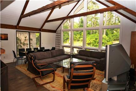 South Orleans Cape Cod vacation rental - Living room with 63 inch TV
