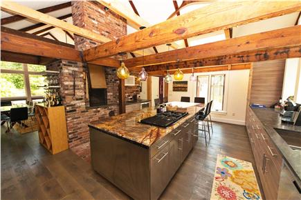 South Orleans Cape Cod vacation rental - Gourmet kitchen with fireplace