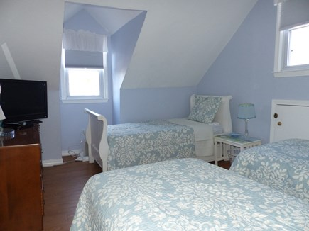 Falmouth Heights Cape Cod vacation rental - Upstairs bedroom - 3 twins