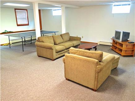 Brewster Cape Cod vacation rental - Lower level rec room is great space for the kids.