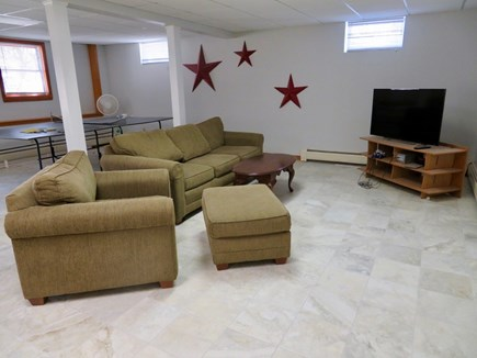 Brewster Cape Cod vacation rental - Roomy lower level rec room is an ideal kids' headquarters.