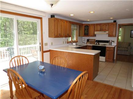 Brewster Cape Cod vacation rental - Well equipped kitchen is right off the deck.