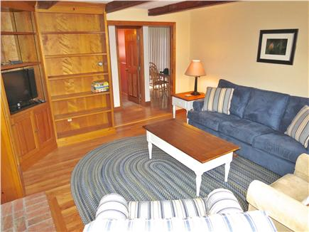 Brewster Cape Cod vacation rental - The family/TV room is also on the main level with a sleep sofa.