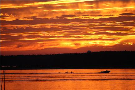 Bourne, Monument Beach Cape Cod vacation rental - Sunset on Phinney's Harbour.