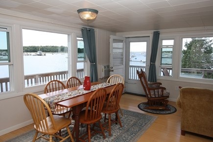 Bourne, Monument Beach Cape Cod vacation rental - Kitchen table and the views from the cottage.