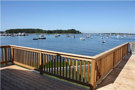 Bourne, Monument Beach Cape Cod vacation rental - View from the deck in between the cottages.