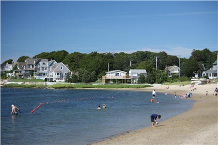 Bourne, Monument Beach Cape Cod vacation rental - Looking back at the cottages from Monument Beach.