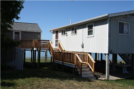 Bourne, Monument Beach Cape Cod vacation rental - Studio cottage on left, main cottage on right; rented together.