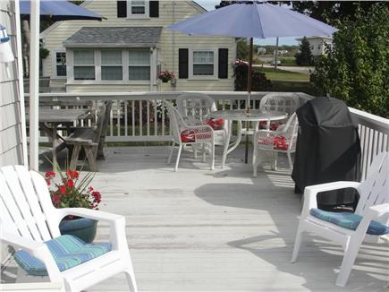 Falmouth-Maravista Cape Cod vacation rental - Spacious deck w/peek waterviews of 2 saltwater inlets