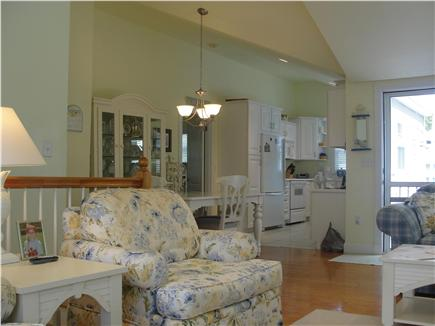 Falmouth-Maravista Cape Cod vacation rental - View from living area to dining and kitchen