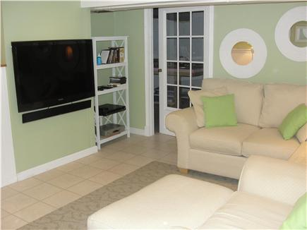 Falmouth-Maravista Cape Cod vacation rental - Large flat screen cableTV in Family room - lower level