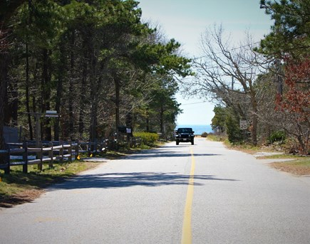 North Eastham Cape Cod vacation rental - 3 minute walk to beautiful Thumpertown beach!(View from driveway)