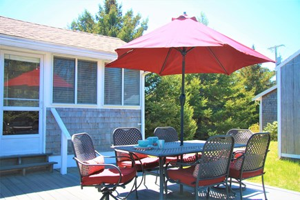 North Eastham Cape Cod vacation rental - Patio, gas or charcoal grills, hammocks, gardens, and more!