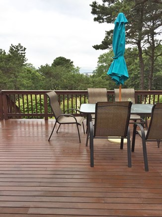 North Eastham Cape Cod vacation rental - Large deck with views of bay