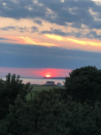 North Eastham Cape Cod vacation rental - Beautiful sunsets from upper deck