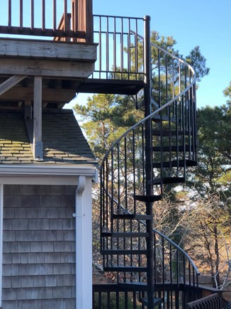 North Eastham Cape Cod vacation rental - Spiral staircase to upper deck