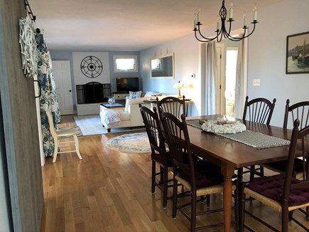 North Eastham Cape Cod vacation rental - Dining area open to living area and large deck