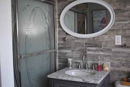 Dennis Cape Cod vacation rental - Gorgeous new full bathroom with designer tiles.