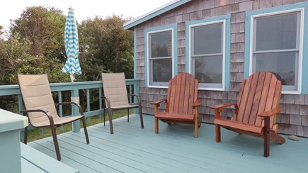 Plymouth  MA vacation rental - Large oceanfront deck with comfortable seating to enjoy the view.