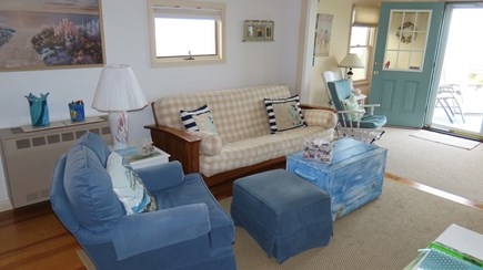 Plymouth  MA vacation rental - Cozy air conditioned living room offers cool breaks from the sun!