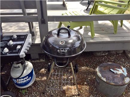 Dennisport Cape Cod vacation rental - Gas, Charcoal Grills, New Fire Pit, wood & charcoal supplied